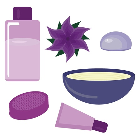set with spa objevts on white Stock Vector - 15983335