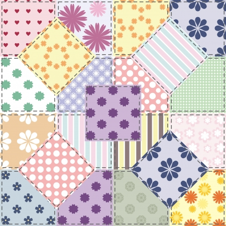 patchwork background with different patterns Stock Vector - 15983417