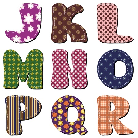 patchwork scrapbook alphabet part 2 Stock Vector - 15983425