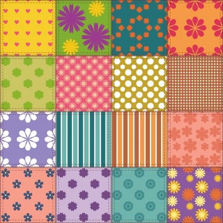 mosaico de fondo con diferentes patrones