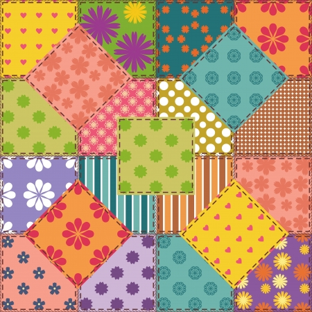 patchwork background with different patterns Stock Vector - 15983420