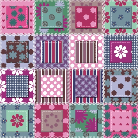 patchwork background with different patterns Stock Vector - 15983459