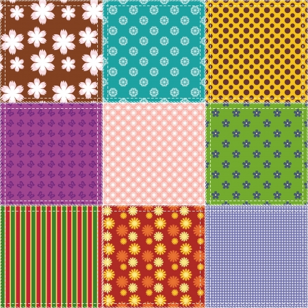 patchwork background with different patterns Stock Vector - 15983538