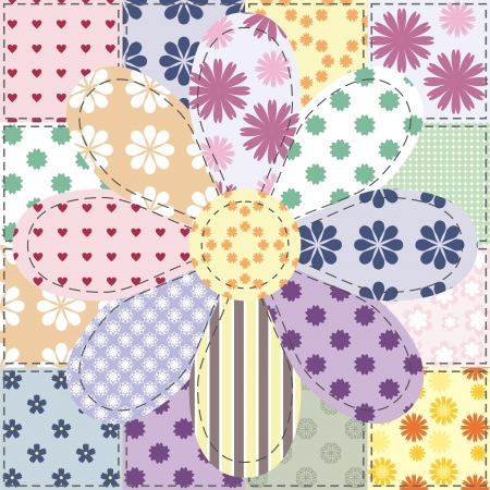 hand craft: patchwork background with different patterns