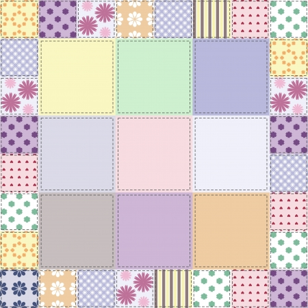 patchwork: patchwork background with different patterns