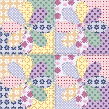 patchwork background with different patterns Stock Vector - 15983593