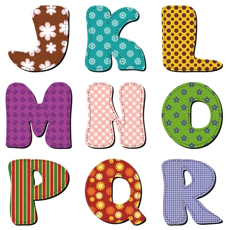 patchwork scrapbook alphabet part 2 Stock Vector - 15983591