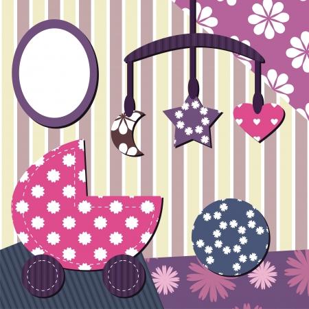 baby room scrapbook style Illustration