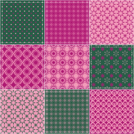 patchwork background with different patterns Stock Vector - 15983580