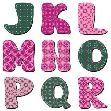 patchwork: patchwork scrapbook alphabet part 2