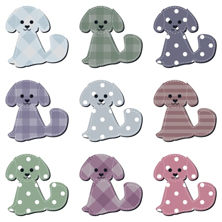 nice scrapbook dogs on white Vector