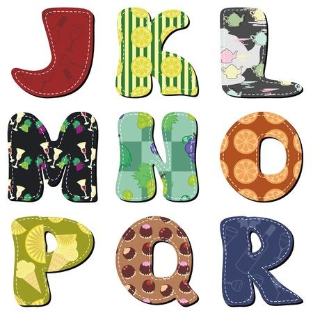 scrapbook alphabet Vector
