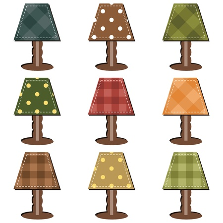 lampshade: scrapbook set with lamps Illustration