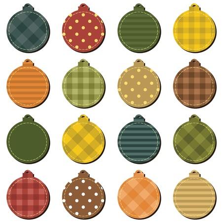 christmass: Christmass decoraci�n del libro de recuerdos bolas sobre fondo blanco Vectores