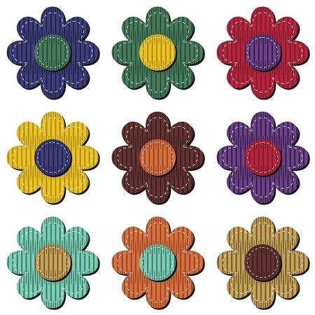 rags: scrapbook flower on white background Illustration