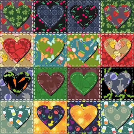patchwork achtergrond met verschillende patronen