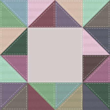 patchwork frame with different patterns Vector