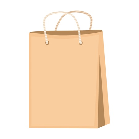 empty paper bags on white Vector