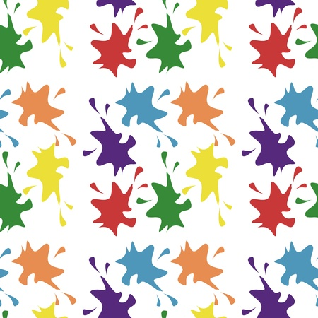 seamless background with paint drops Illustration