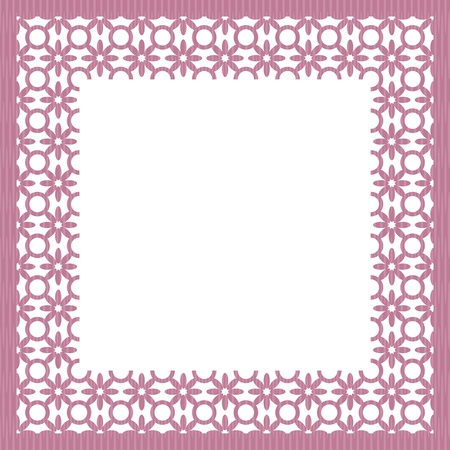 frame with white lace Vector