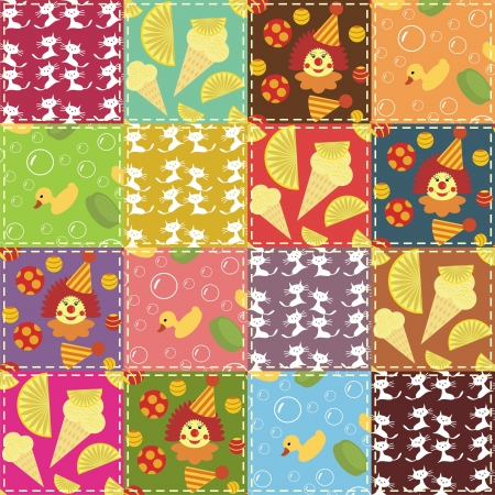 handmade soap: patchwork background with different patterns