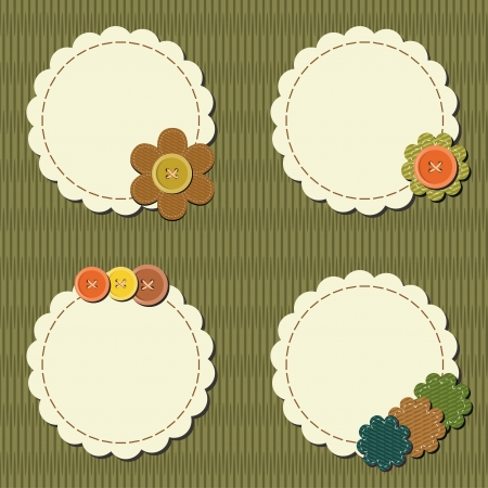 decorative accessories: decor scrapbook elements with flowers