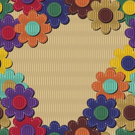 naadloze achtergrond met kladblok bloemen