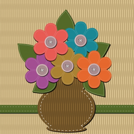scrapbook bouquet of flowers Vector