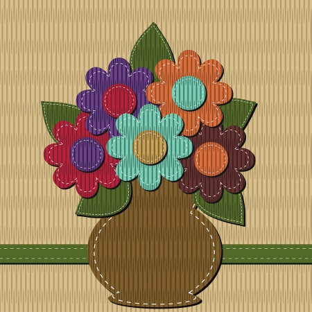 handiwork: scrapbook bouquet of flowers