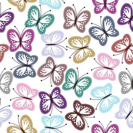 gentle background: seamless background with butterflies