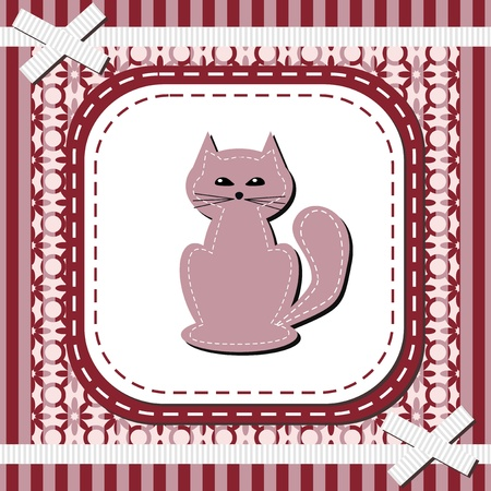 fined: frame with lace and nice cat