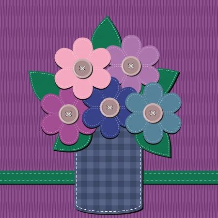 Кнопки: записках букет цветов