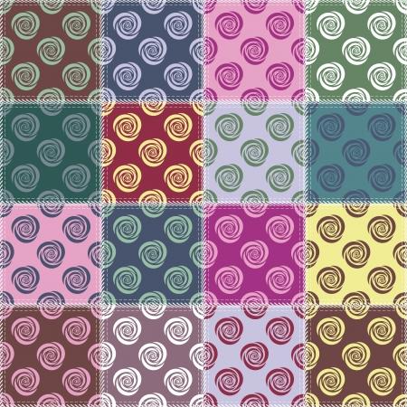 dekor: patchwork background with different patterns