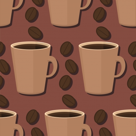 coffeecup: seamless background with coffee Illustration