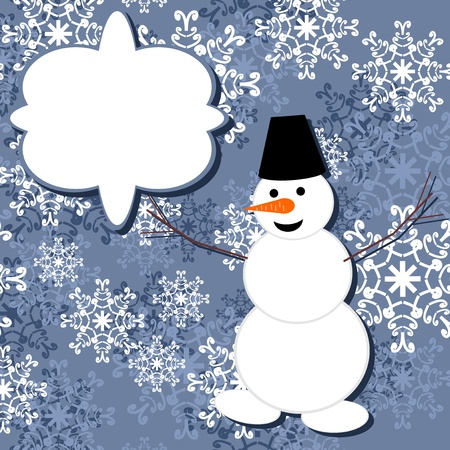 background with snowman Stock Vector - 16503816