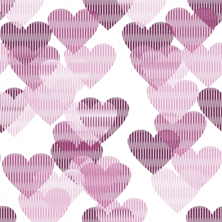 seamless background with hearts Stock Vector - 16503808