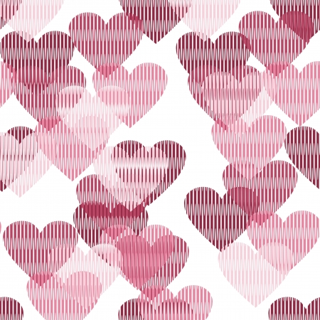 greeting card invitation wallpaper: seamless background with hearts