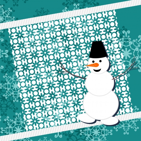 background with snowman Stock Vector - 16503815