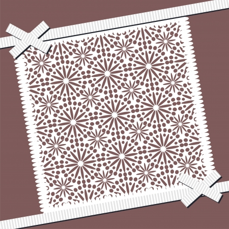background with lace frame Stock Vector - 16503819