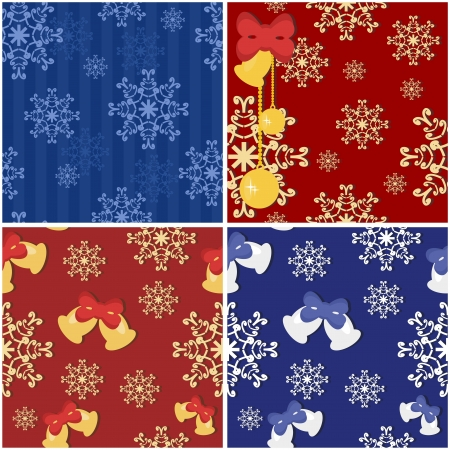 four seamless new year backgrounds Vector