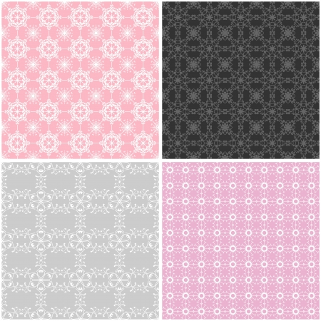 four seamless lace backgrounds Stock Vector - 16503822