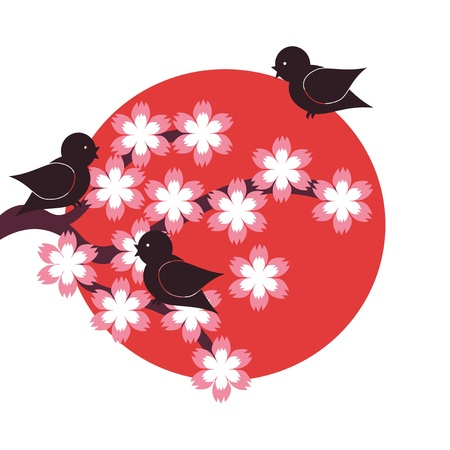 illustration in japanese style Stock Vector - 16503823