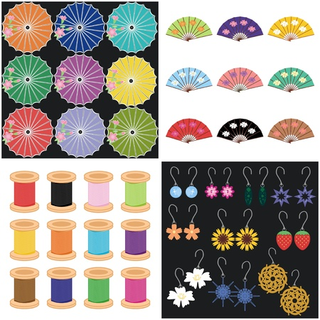 four sets with different objects Stock Vector - 16503826
