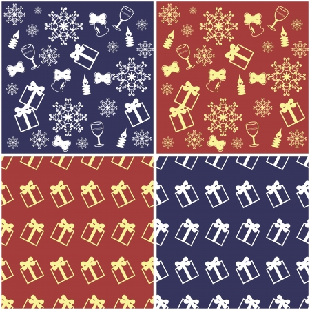 four new year and christmas backgrounds Stock Vector - 16696451
