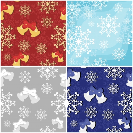 four seamless new year backgrounds Stock Vector - 16696458