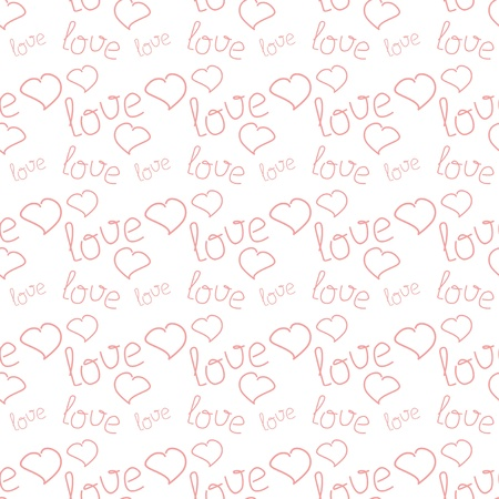 seamless background with hearts and words Stock Vector - 17495070