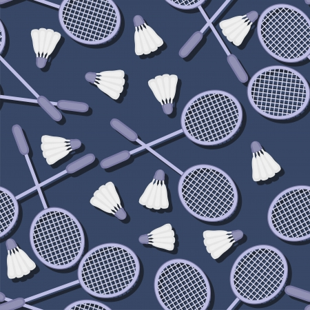 seamless pattern with badminton Vector
