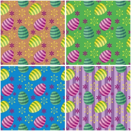 cristian: four Easter backgrounds Illustration