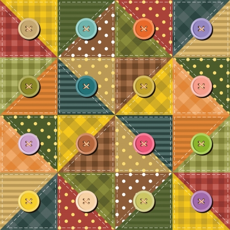 patchwork background with buttons Vector