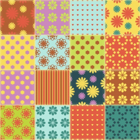 rags: patchwork background